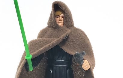 LUKE SKYWALKER (Jedi Knight Outfit) (Green Lightsaber) (Snap Cape 4 Snatchs) (HK 1983)